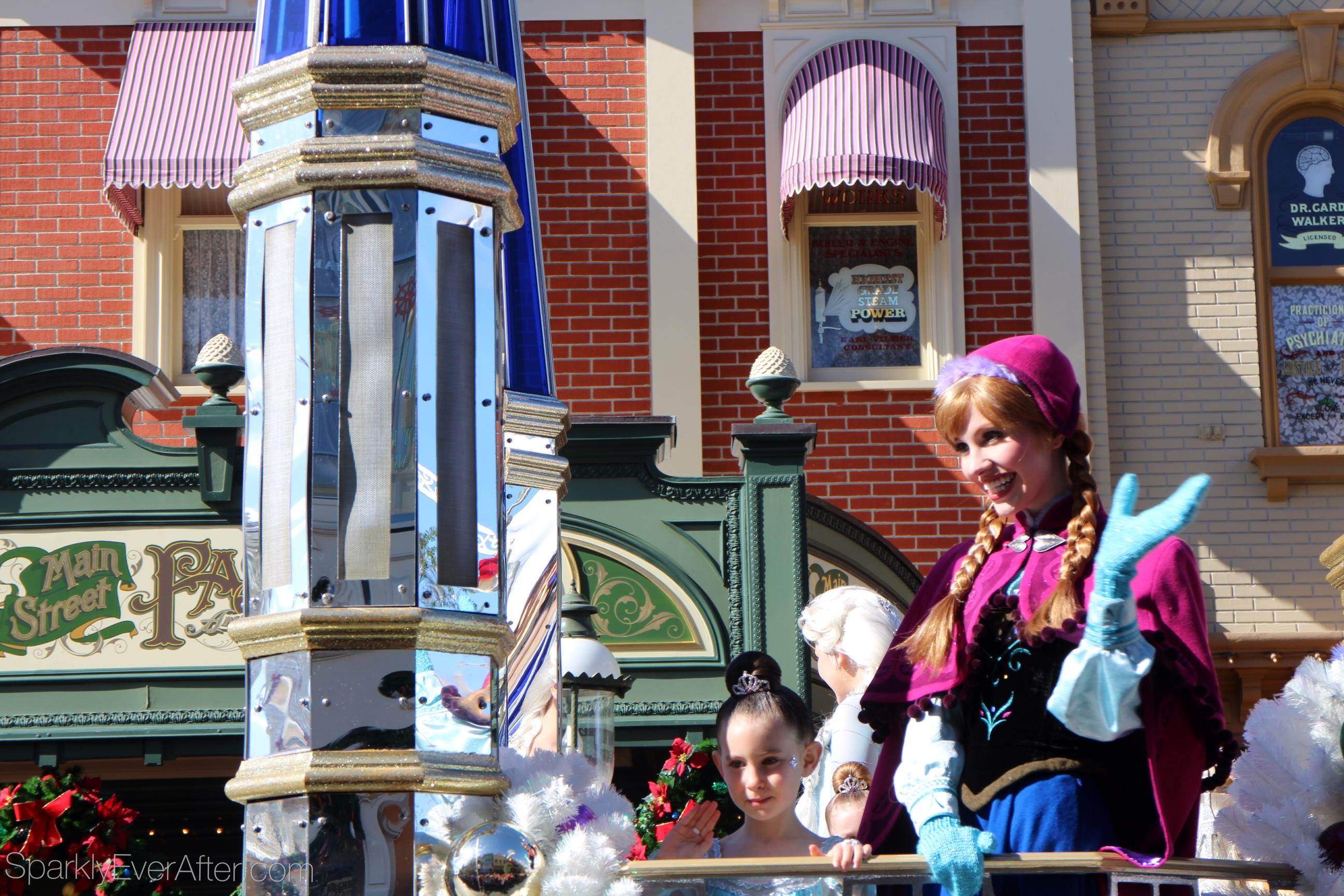 Disney Christmas Parade Filming & Details - Sparkly Ever After