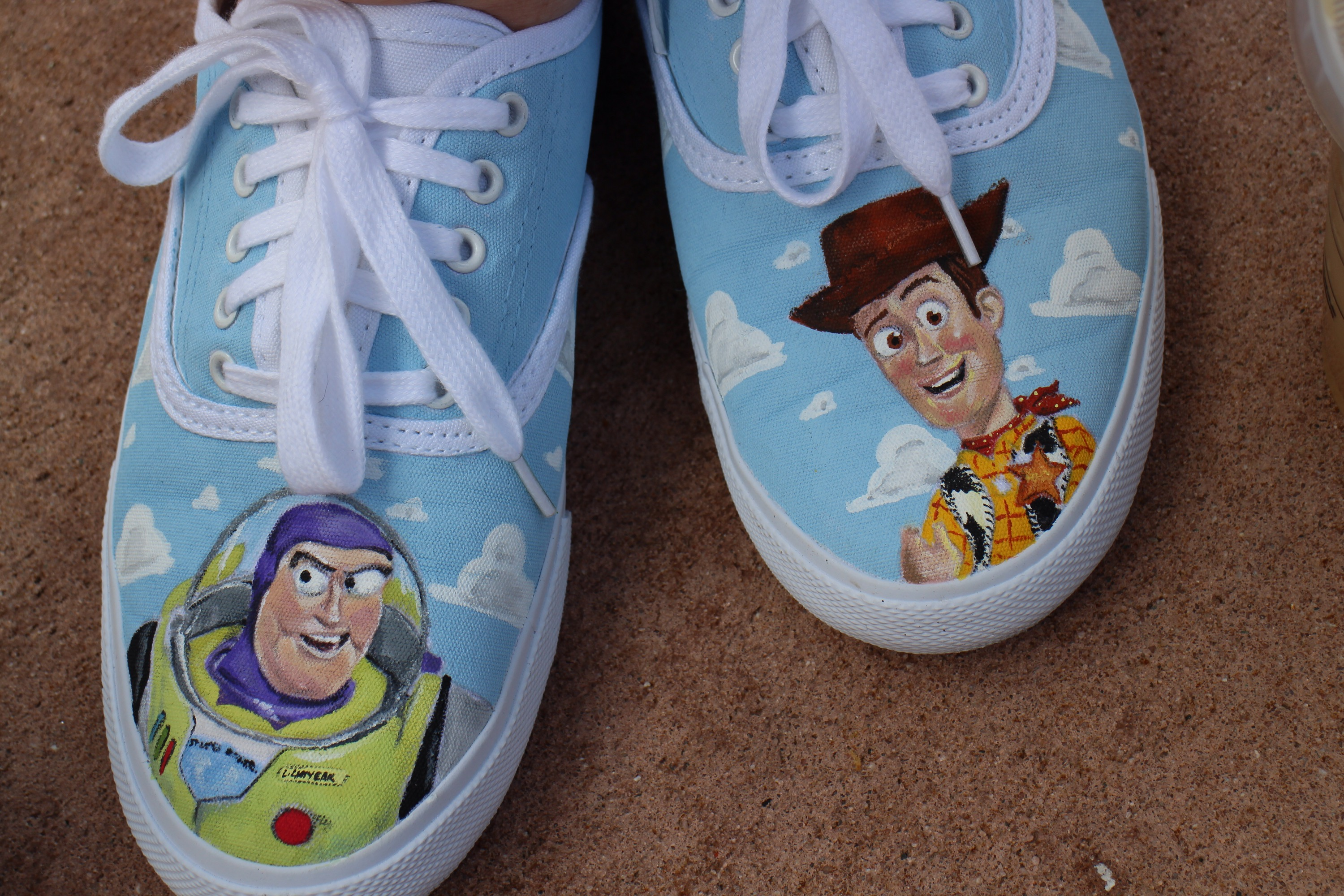 Hand Painted Toy Story Shoes Sparklyeverafter Com