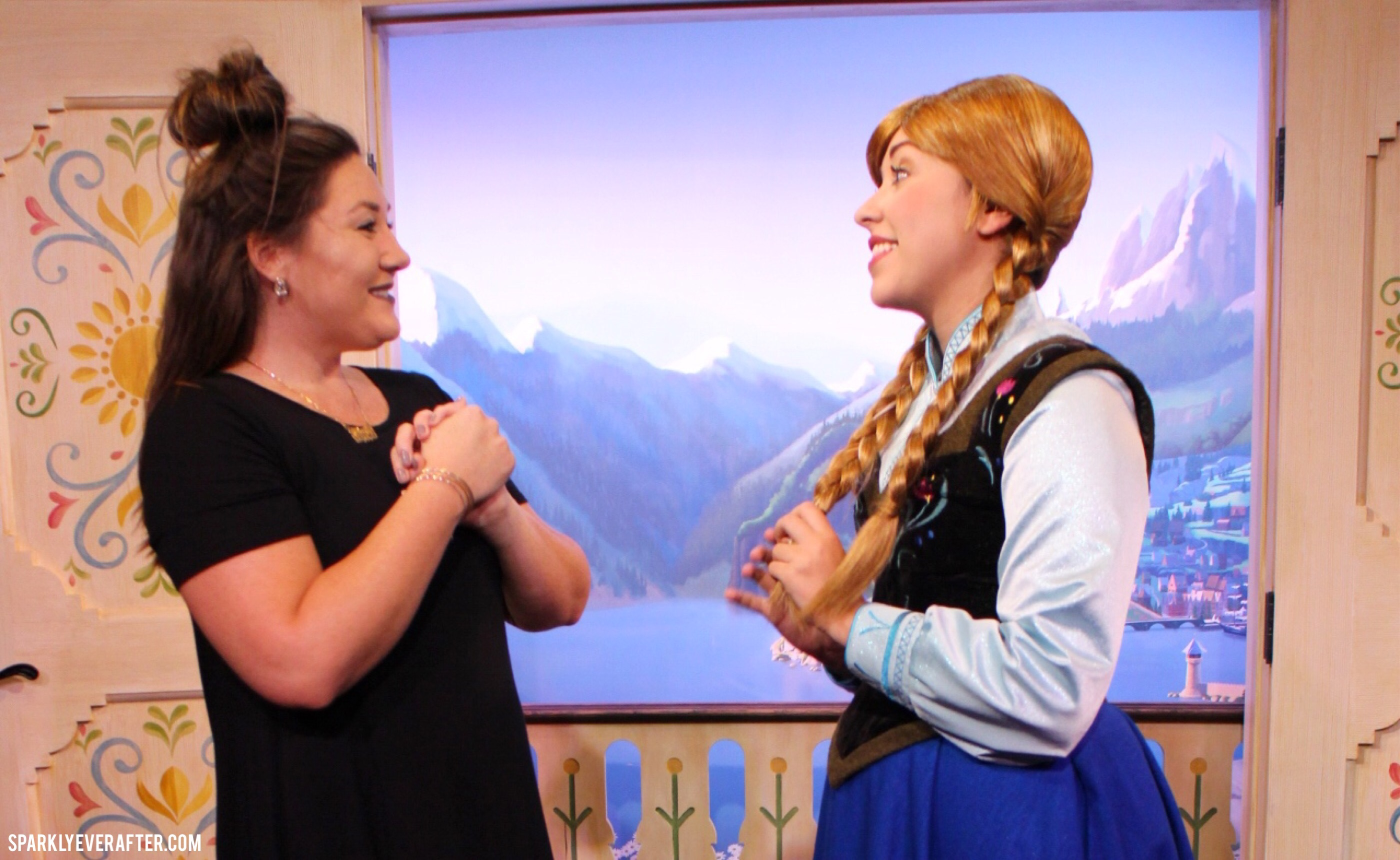 Elsa And Anna Epcot Meet Greet More Sparklyeverafter